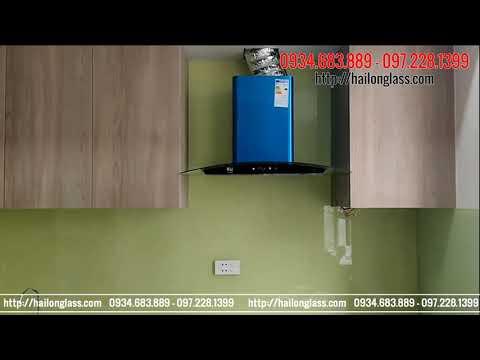 Kính ốp bếp - Kính Ốp Bếp Màu  Kem Thi Công Tại NO4 _ Ecohome 3 Đông Ngạc