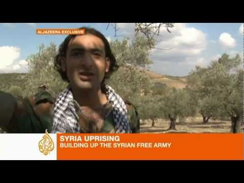 Defected Syrian soldiers side with protesters