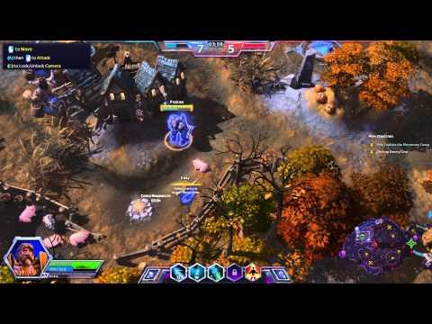 видео: heroes of the storm - быстрый обзор функций, и тестовая игра
