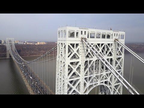Drone Flying The George Washington Bridge: DJI Mavic Pro