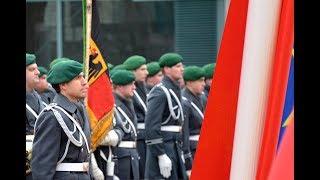 Ehrenkompanie - Österreichs Kanzler Kurz - Militärische Ehren