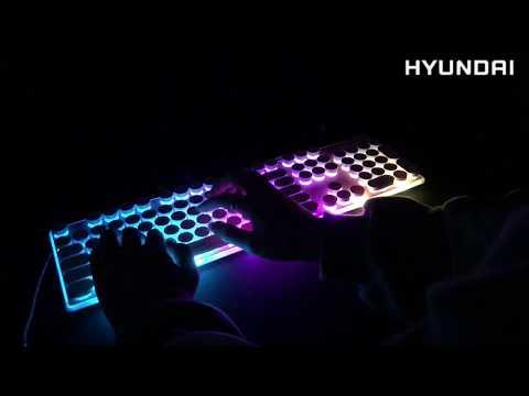 현대 LED  레트로 게이밍 키보드 HD-GK3 멤브레인 키감