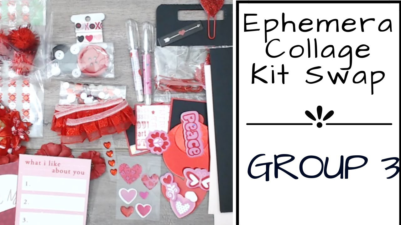 ArtC Ephemera Collage PackWord Play paper crafts and other