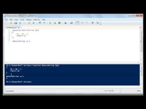 Powershell: How To Write A Function