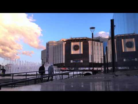 Timelapse Of Sunset At The National Palace Of Culture In Sofia, Bulgaria