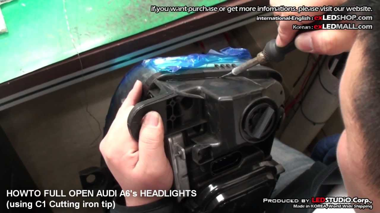 Howto Fully Open Audi A6 U0026 39 S Headlights  By Exledshop Com
