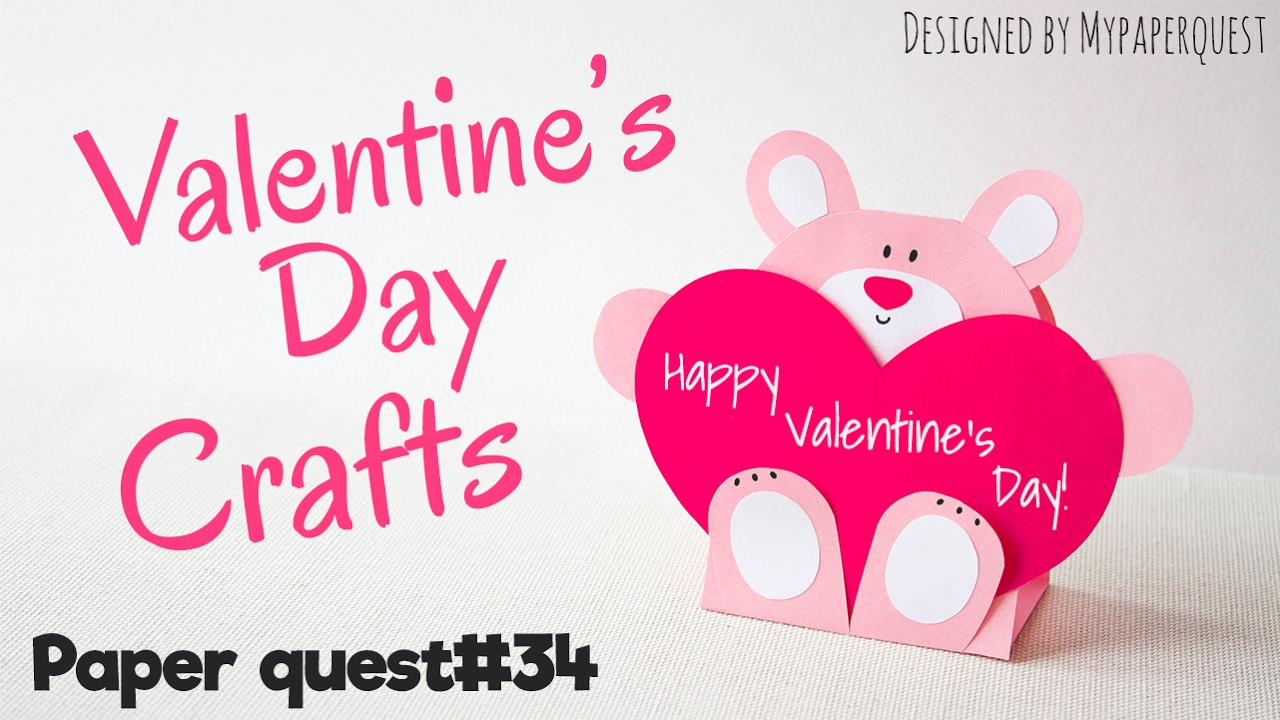 How to make Valentines card Teddy Bear Papercraft DIY My – Bear Valentines Card