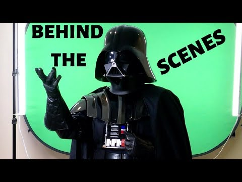 Star Wars behind the scenes Darth Vader green screen shoot