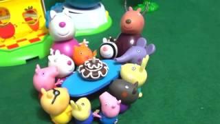 Мультфильм игрушками Свинка Пеппа Свинка Pig День рождения
