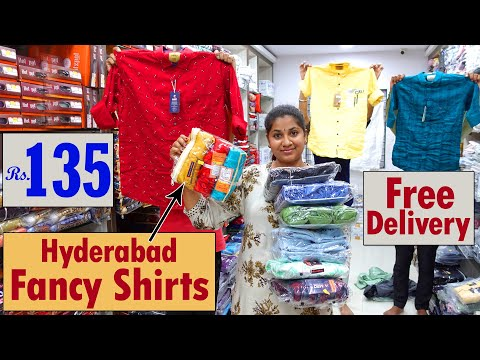 Hyderabad Wholesale Dasara Special Fancy Shirts Rs 135 Free Courier but Bulk Only | Menswear Shops