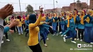 رقص بنات جديد بعد الحظر علي اغنيه خطوة