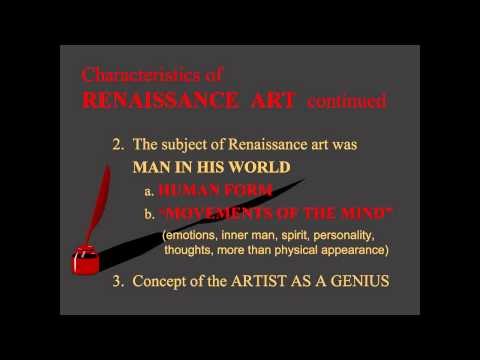 ARTH 2020/4037 Renaissance Characteristics