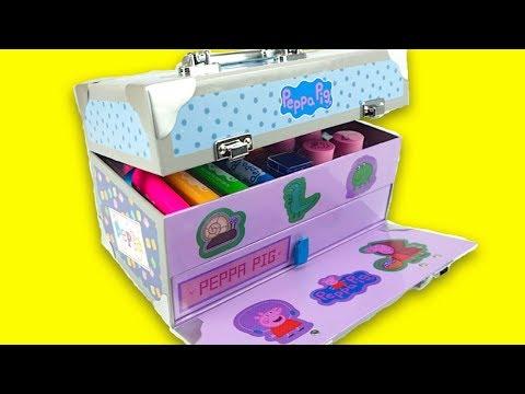 Свинка Пеппа коробка с развлечениями для детеи  Раскраски, наклеики, фломастеры Свинка Пеппа