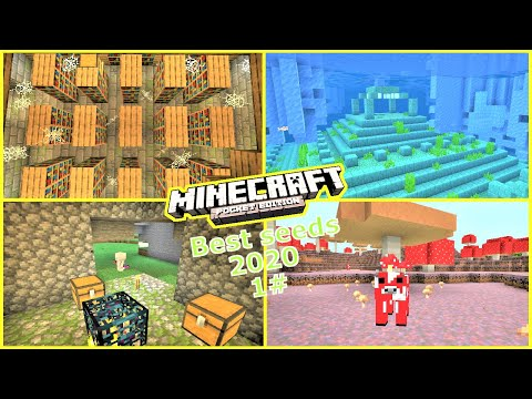 Minecraft PE - TOP 5 SEEDS To Use In 2020 ! #1 - End Portal, Dungeons & More | 1.14