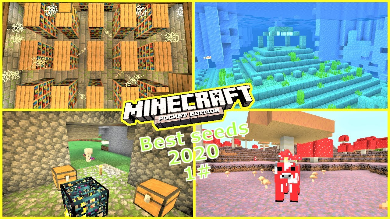Minecraft Pe Top 5 Seeds To Use In 2020 1 End Portal Dungeons More 1 14 Youtube