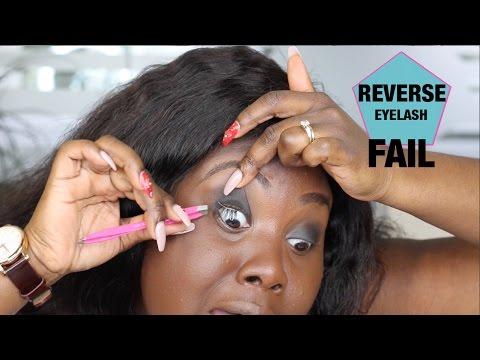 APPLYING FALSE LASHES UNDER REAL LASHES HACK FAIL!!! NEW REVERSE LASH METHOD