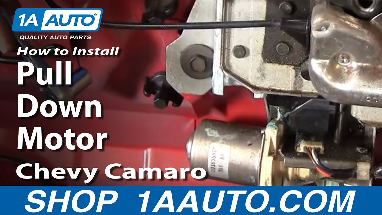 how to replace trunk lid pull down motor with gear 86 91 chevy camaro [ 1280 x 720 Pixel ]