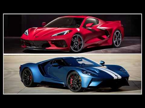 American Mid-engine Super Car Battle 2020 Corvette Stingray (C8) VS 2019 Ford GT