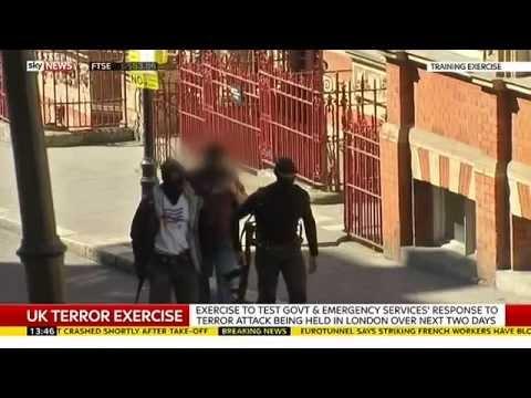 UK Police Test Terrorism Attack Response In London