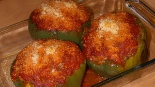 Stuffed Green Bell Pepper Cups