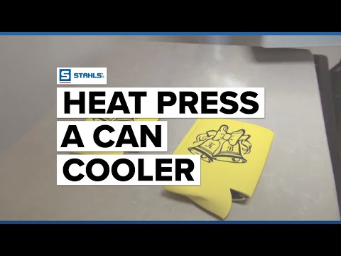 How to Heat Press a Can Koozie