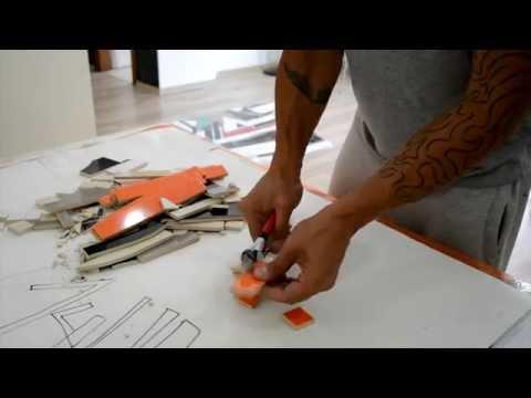 Ceramic mosaic tile art // ART VLOG