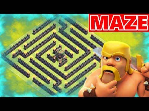 Clash Of Clans | EPIC LOOT MAZE BASE! Weird Town Hall 8 (TH8) Farming Base