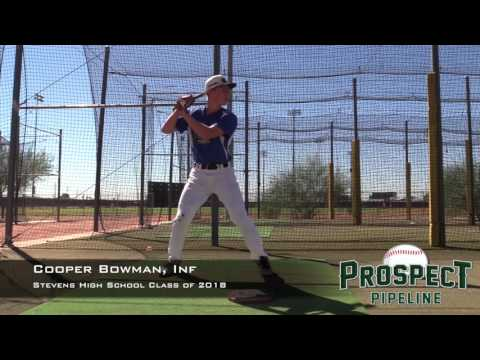 Cooper Bowman  Prospect Video, Inf, Stevens High School Class of 2018