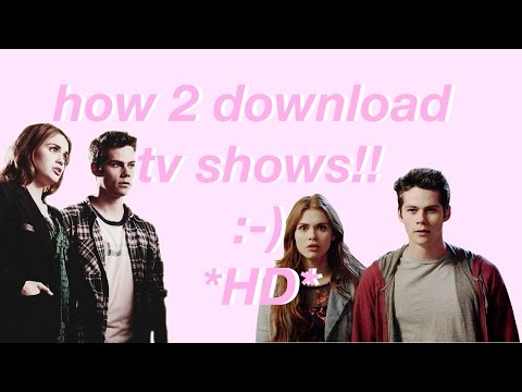 how to download hd tv shows