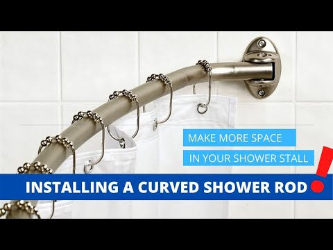 """Installing A Curved Shower Rod"""