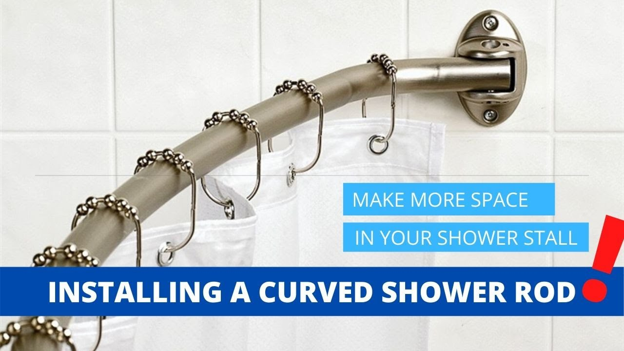 Installing A Curved Shower Rod Youtube