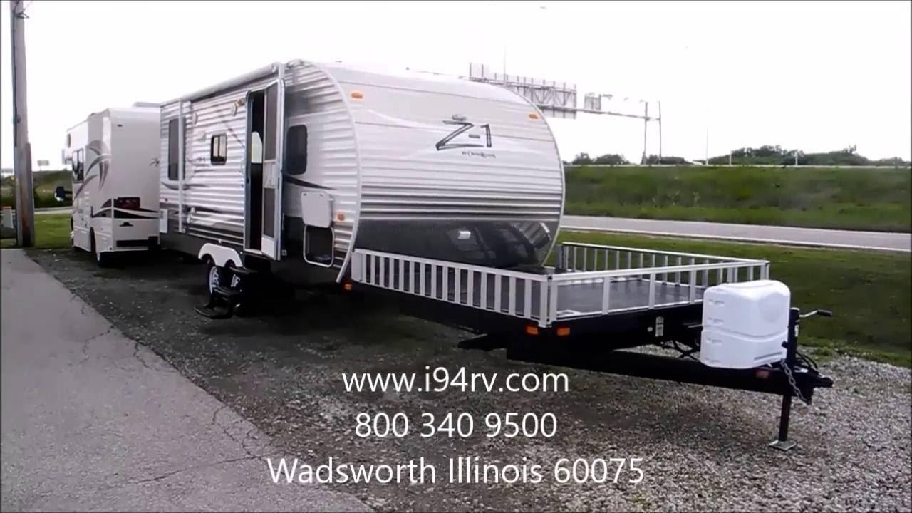 2013 Z1 218 TD Toy Hauler RV Camper Ramp Used For Sale I94RV Illinois Wisconsin 1