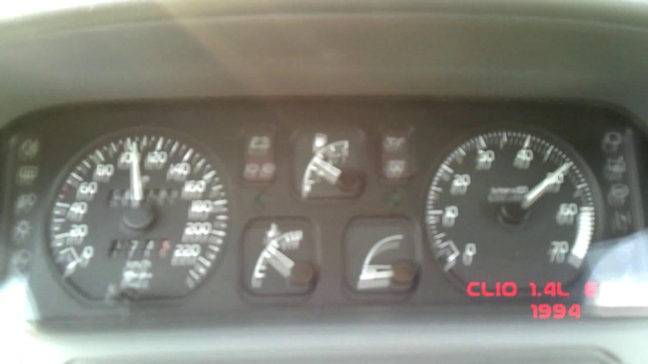 clio 1 4l essence 1994 0 100 km h boite auto youtube. Black Bedroom Furniture Sets. Home Design Ideas