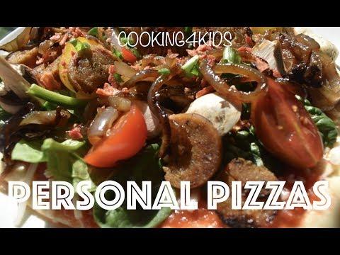 PERSONAL VEGAN PIZZA // COOKING4KIDS