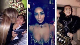 Kardashian & Jenner Christmas Party | Khloe Kardashian Snapchat Ft Kim Kardashian,Kendall Jenner,