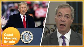 Nigel Farage slams Boris Johnson & Black Lives Matter but Praises Donald Trump's 'Courage' | GMB