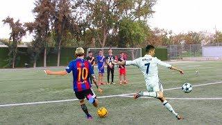 מסי נגד רונאלדו - אתגר כדורגל