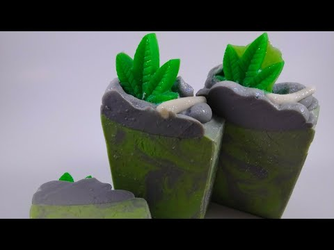 Cannabis Inspired CBD Cold Process Soap - 420 Stoners