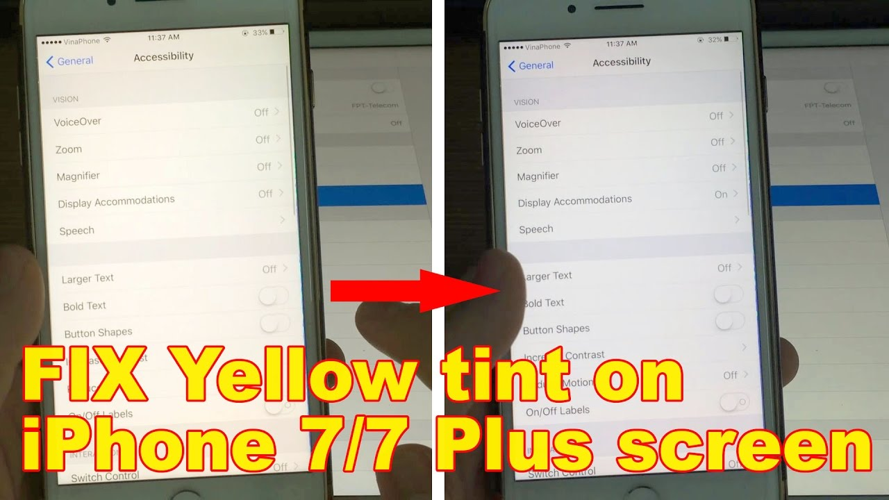 quality design b95c6 465ee How to FIX Yellow tint on my iPhone 7/7 Plus screen