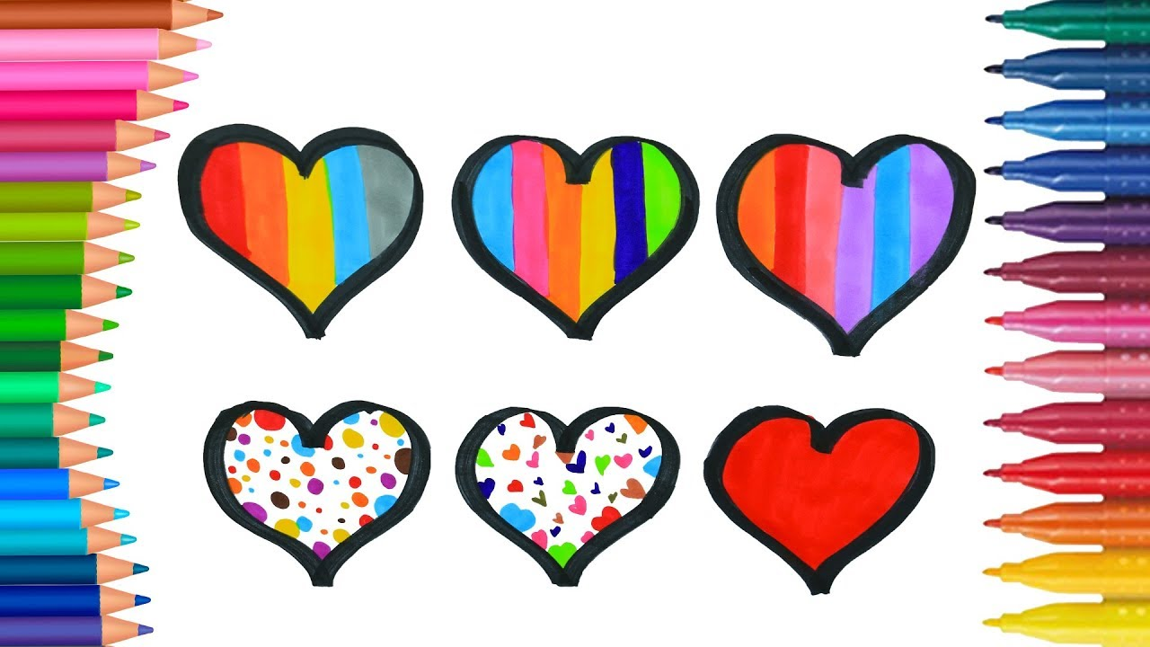 Lernen Sie Farben Fur Kinder Indem Sie Barbie Herzform Malen