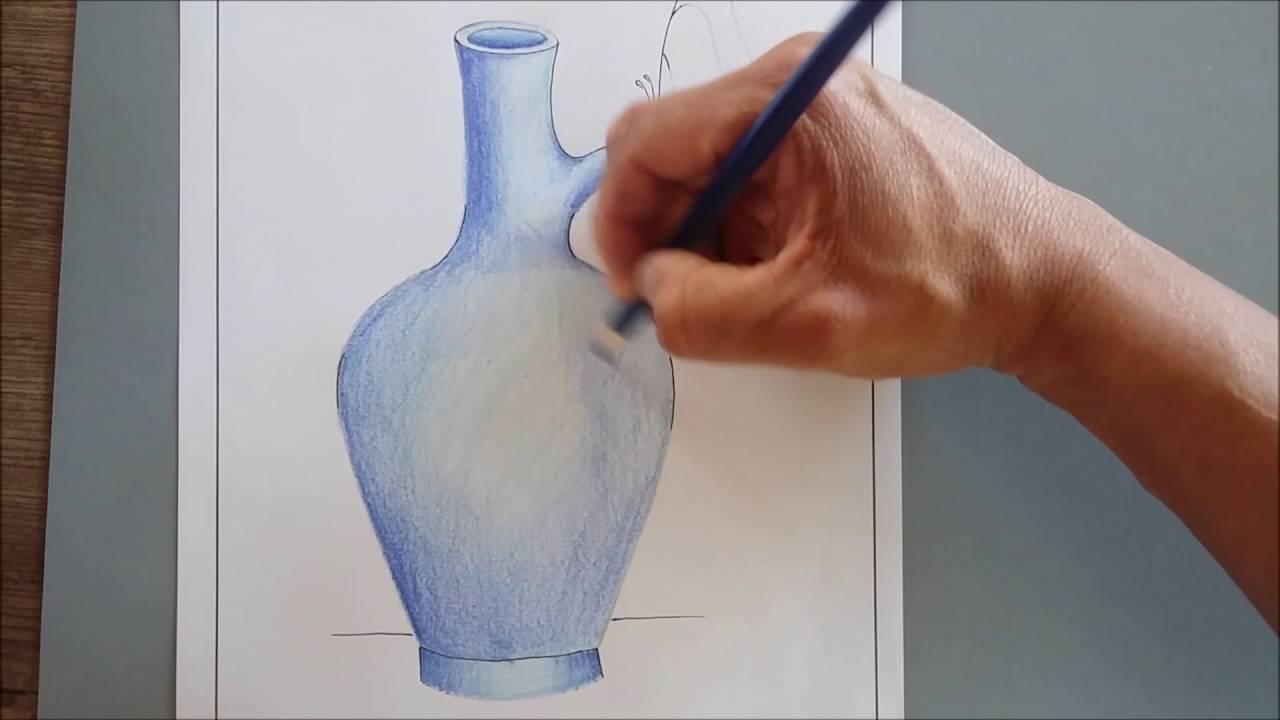 Volume 7 Folha 5 Como Colorir Vaso Com Borboleta Youtube