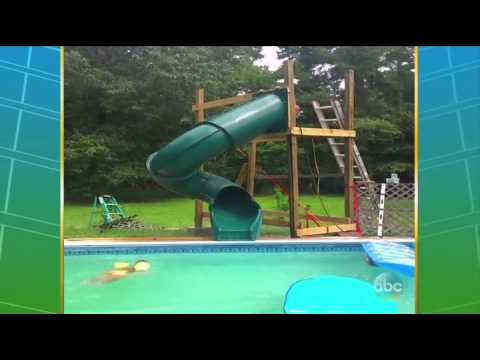 worst homemade pool slide - Diy Above Ground Pool Slide