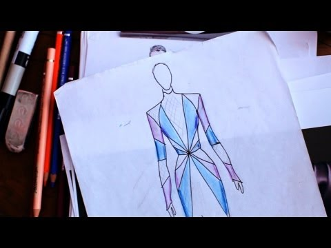 How to Add Color, Texture & Shadows | Fashion Sketching