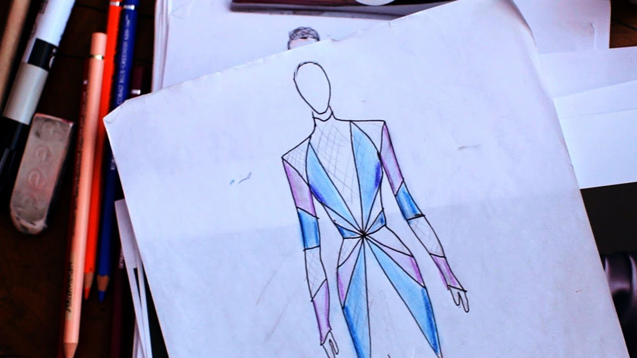 Fashion Design Back Aqnd Front Template