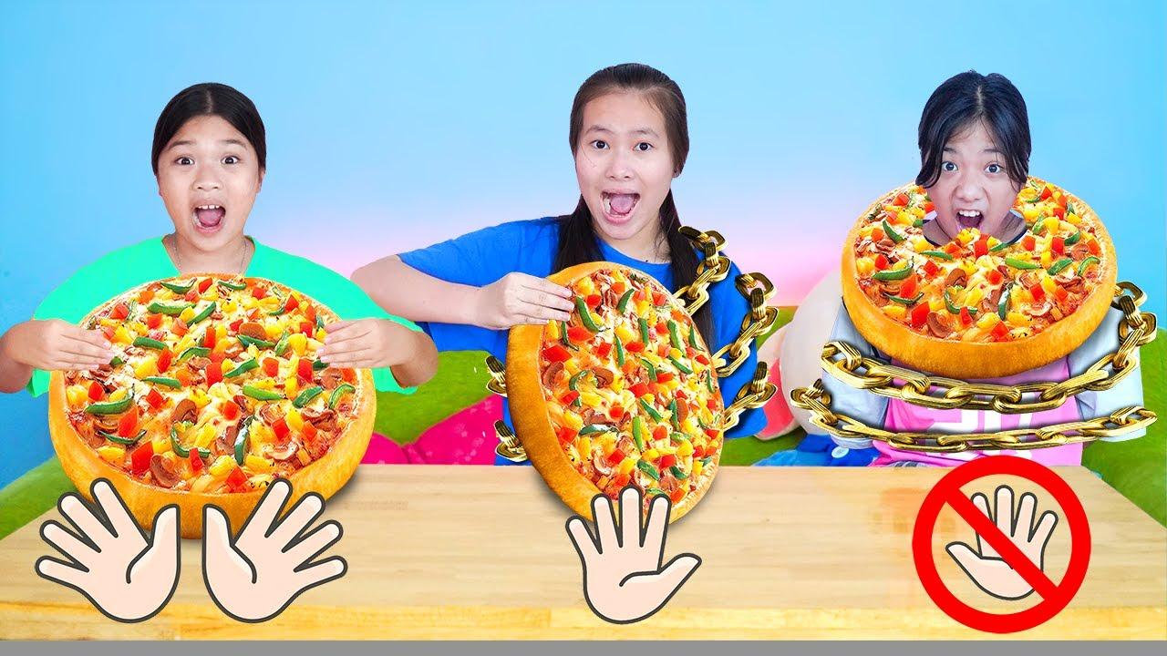 Thử Thách Ăn Không Cần Dùng Tay ❤ Ăn Với 1 Tay Và 2 Tay ❤ Trang Vlog