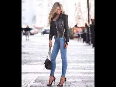 Casual spring street style with jeans 2019