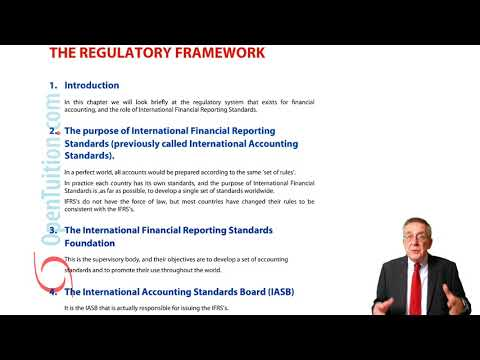 Regulatory Framework - ACCA Financial Accounting (FA) Lectures