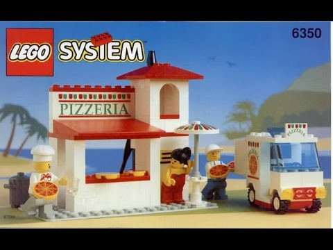 Building Instructions For Lego Pizza To Go Pizzeria Set 6350 Youtube
