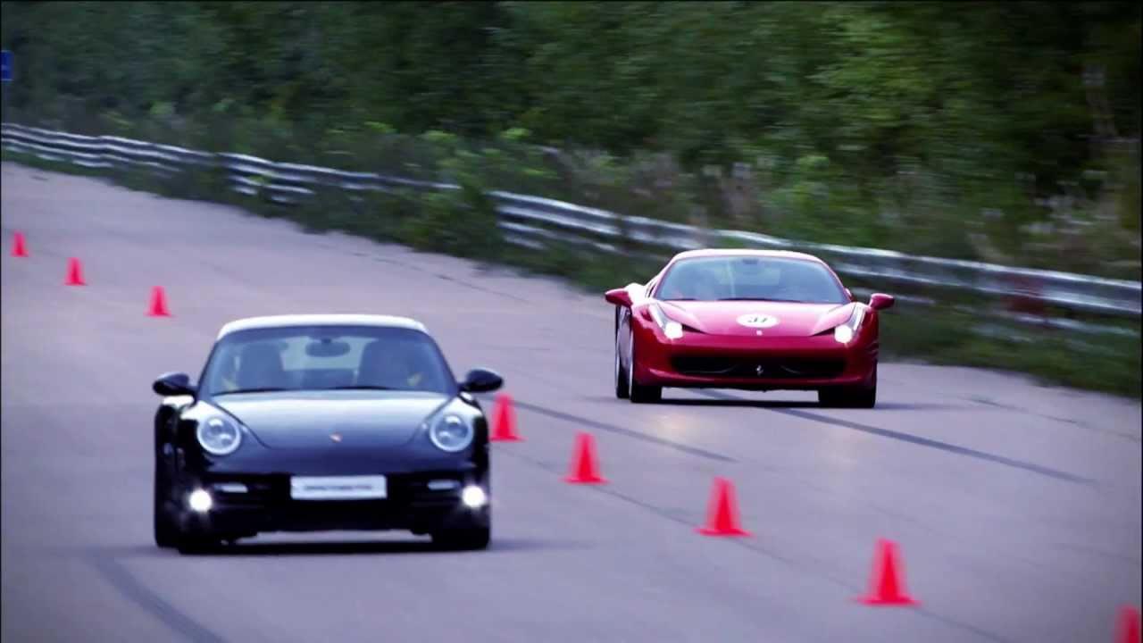 Ferrari 458 Italia Vs Porsche 911 Turbo S Pdk Youtube