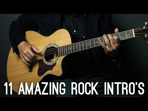 11 Amazing ROCK/METAL songs intros you should know on guitar!